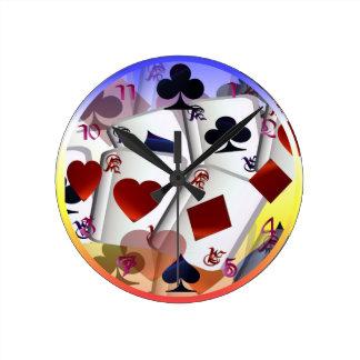Cuatro as (arco) de la lluvia Wallclock Reloj Redondo Mediano