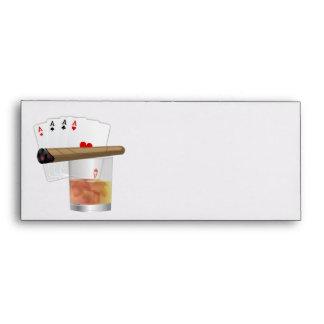 Cuatro as, una bebida y un cigarro sobres