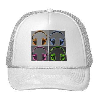 Cuatro auriculares gráficos gorro de camionero