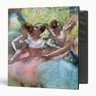 """Cuatro bailarinas en la etapa (en colores pastel) carpeta 1 1/2"""""""