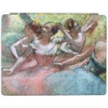 Cuatro bailarinas en la etapa (en colores pastel) cubierta de iPad