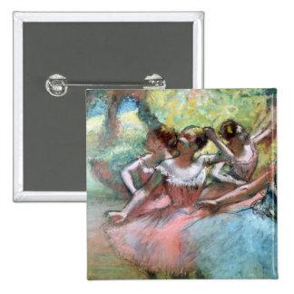 Cuatro bailarinas en la etapa pin cuadrada 5 cm