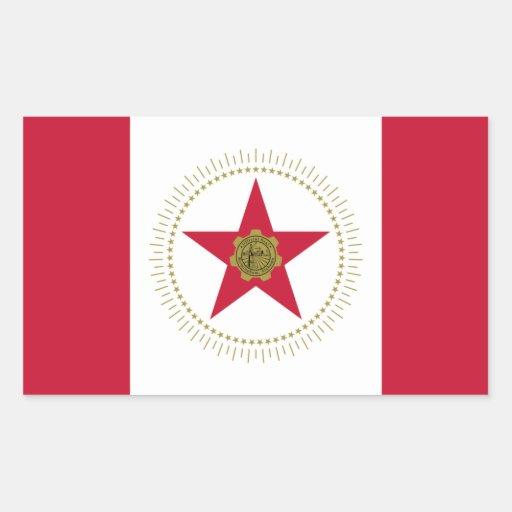 CUATRO bandera de Birmingham, Alabama Pegatina Rectangular