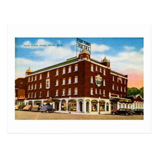 Cuatro banderas hotel Niles Michigan Tarjeta Postal