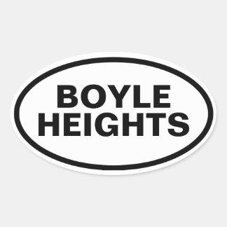 "CUATRO ""Boyle Heights "" Pegatina Ovalada"
