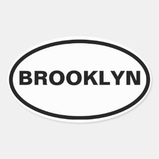 CUATRO Brooklyn Pegatina Ovalada