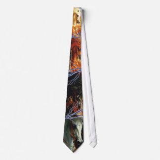 Cuatro caballos de la apocalipsis corbatas personalizadas