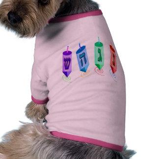 Cuatro camisetas del perro de Dreidels Camisas De Mascota