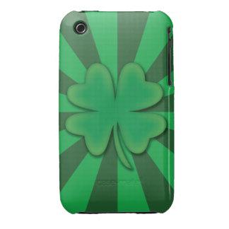 Cuatro caso de Iphone 3 de la casamata del trébol  iPhone 3 Case-Mate Cobertura