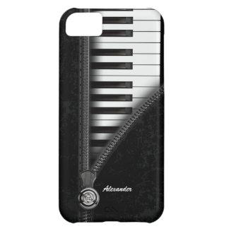 Cuatro caso del iPhone 5C del teclado de piano del