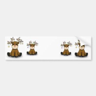 Cuatro ciervos pegatina para auto