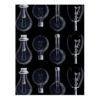 Cuatro clases de lámpara en la exposición de la postales