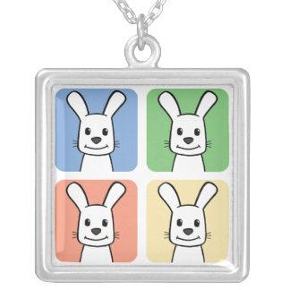 Cuatro conejos colgante cuadrado