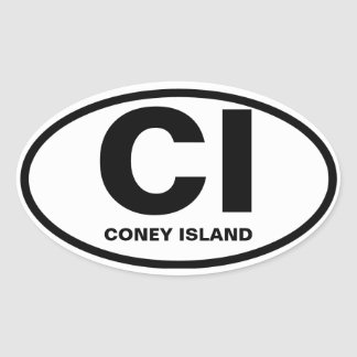 "CUATRO Coney Island ""ci "" Colcomanias Óval"