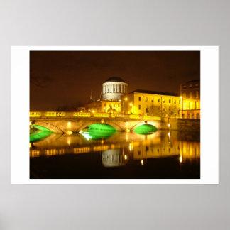 Cuatro cortes Dublín Póster