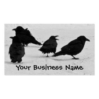 Cuatro cuervos plantilla de tarjeta de visita