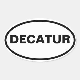 CUATRO Decatur, Alabama Pegatina Ovalada