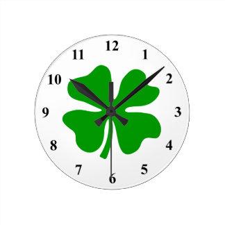 Cuatro día del St Patty afortunada del trébol el | Reloj De Pared