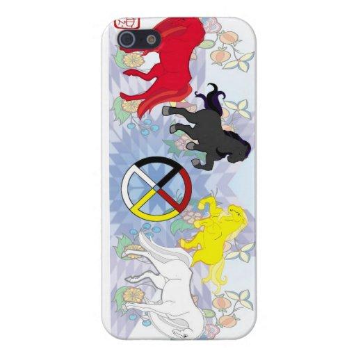 Cuatro direcciones iPhone 5 carcasas