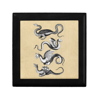 Cuatro dragones cajas de regalo