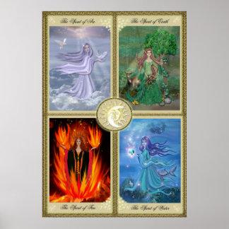 Cuatro elementos póster