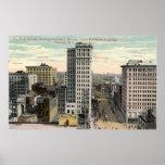Cuatro esquinas, Newark, vintage de NJ c1915 Póster