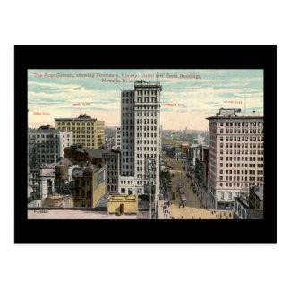 Cuatro esquinas, Newark, vintage de NJ c1915 Postal