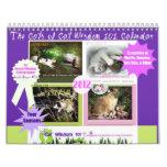 Cuatro estaciones de la sabiduría 101 del gato calendario