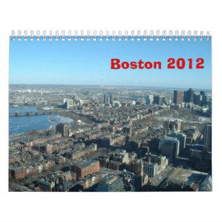 Cuatro estaciones en Boston - 2012 Calendarios