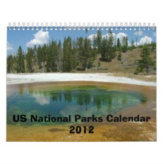 Cuatro estaciones en el calendario 2012 de los