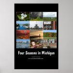 cuatro estaciones en el poster de Michigan