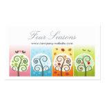 Cuatro estaciones tarjeta de negocio