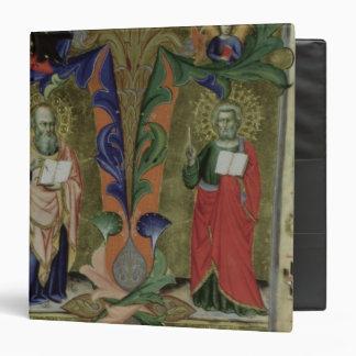 """Cuatro evangelistas, siglo XIV (vitela) Carpeta 1 1/2"""""""