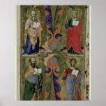 Cuatro evangelistas, siglo XIV (vitela) Póster