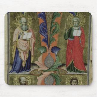Cuatro evangelistas, siglo XIV (vitela) Alfombrilla De Raton