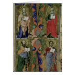 Cuatro evangelistas, siglo XIV (vitela) Tarjeta De Felicitación