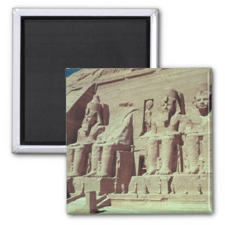 Cuatro figuras colosales del rey imán cuadrado
