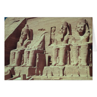 Cuatro figuras colosales del rey felicitación