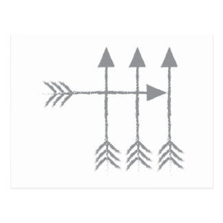 Cuatro flechas postales