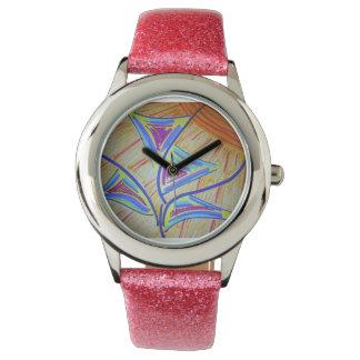 Cuatro flores relojes de pulsera