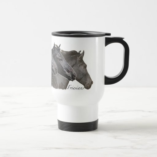Cuatro frisios tazas de café