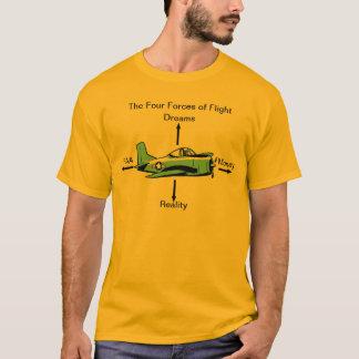 Cuatro fuerzas de camisa de la aviación del vuelo
