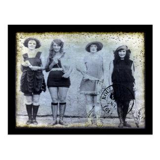 Cuatro ganadores del concurso de belleza tarjetas postales