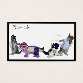 Cuatro gatitos en el juego tarjetas de visita