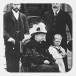 Cuatro generaciones de derechos del Victorian Pegatina Cuadrada