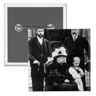 Cuatro generaciones de derechos del Victorian Pin Cuadrada 5 Cm