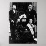 Cuatro generaciones de derechos del Victorian Póster