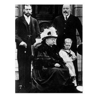 Cuatro generaciones de derechos del Victorian Tarjetas Postales