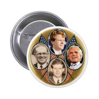 Cuatro Generatrions de Joe Kennedys Pin Redondo De 2 Pulgadas