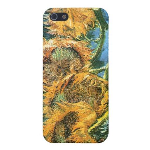 Cuatro girasoles cortados, Vincent van Gogh iPhone 5 Cárcasa